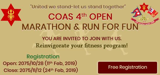 COAS 4th Marathon, Run for FUN