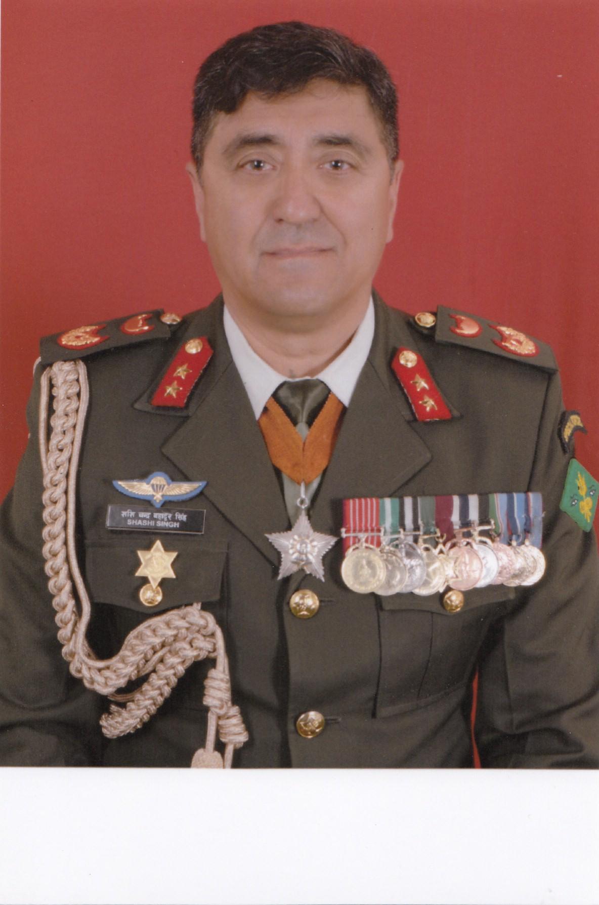 Major General Shashi Chandra Bahadur Singh