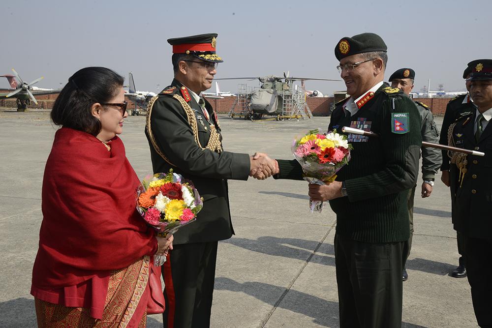 COAS Gen Thapa returns from India