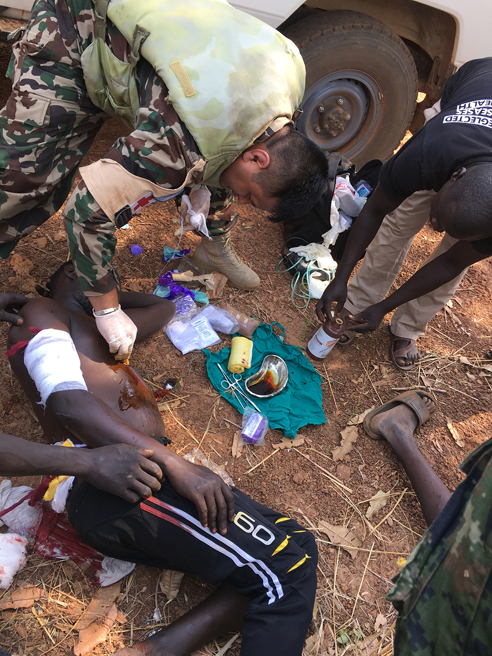Wounded Civilians Rescued
