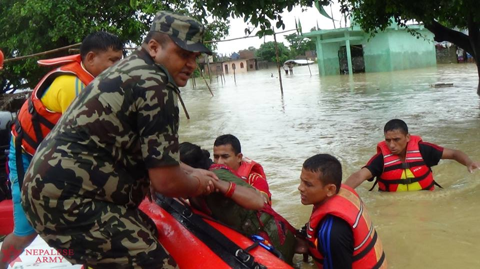 Nepal army rescues over 1,000 flood-survivors