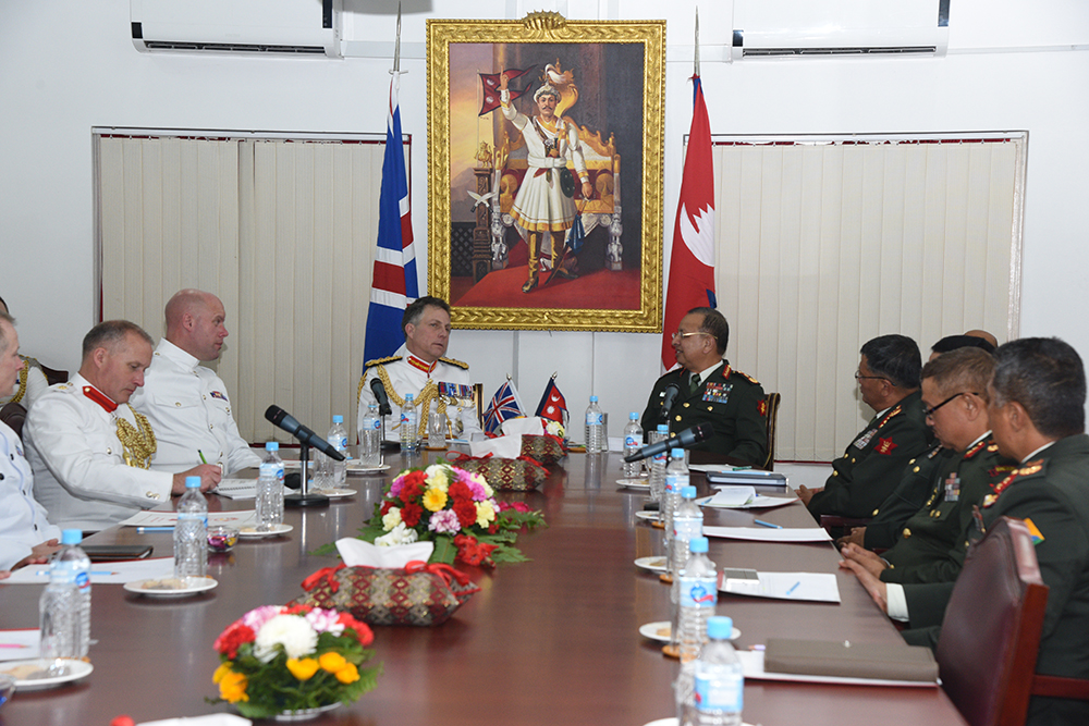 General Sir Nicholas Patrick Carter Calls on COAS