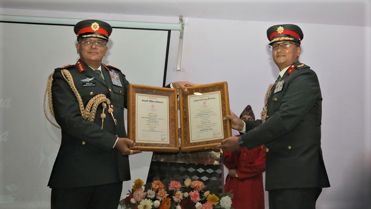 COAS Gen Thapa Honoured with 'Academy Hall of Fame'