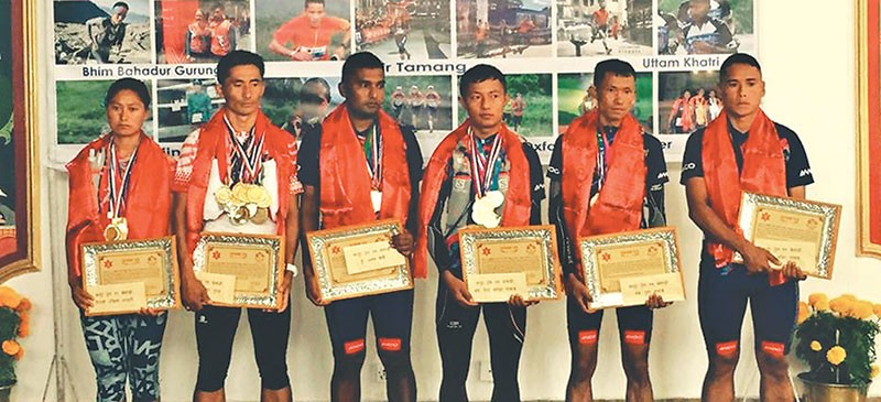 Nepal Army felicitates champion athletes