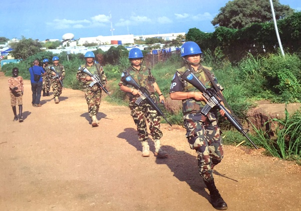 Nepal Army peace keeping unit in South Sudan