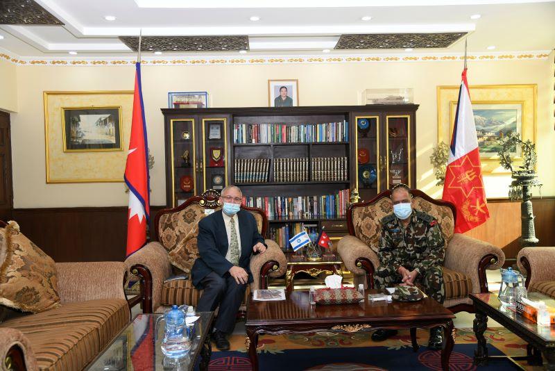 Israeli Ambassador calls on officiating COAS