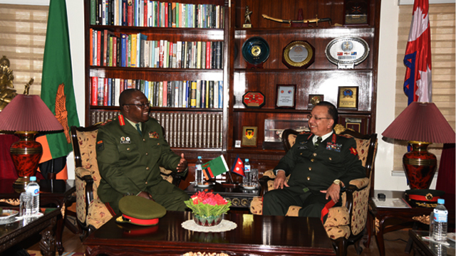 Zambia Army Commander Calls on COAS