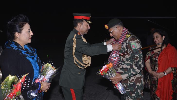 COAS Returns from Bangladesh