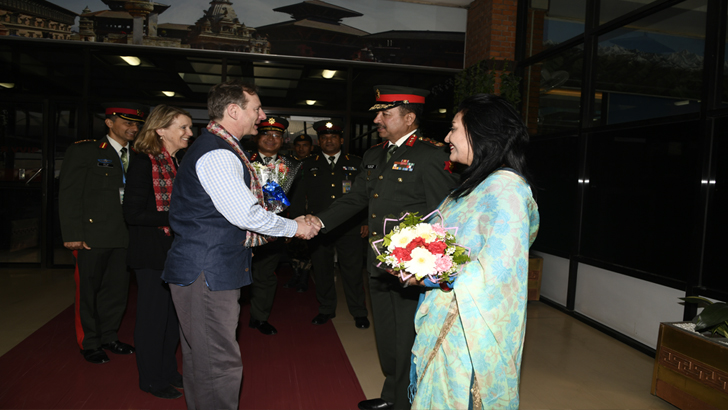 British Chief of General Staff General Sir Mark Carleton-Smith Arrives