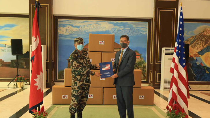 U.S. Embassy Hands Over Medical Equipment to Nepali Army