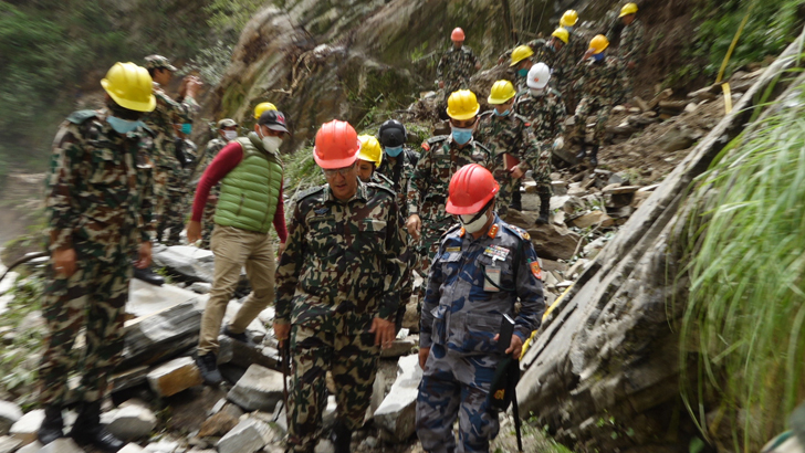 Nepali Army Hands Over Ghantibagad-Chhangru Track