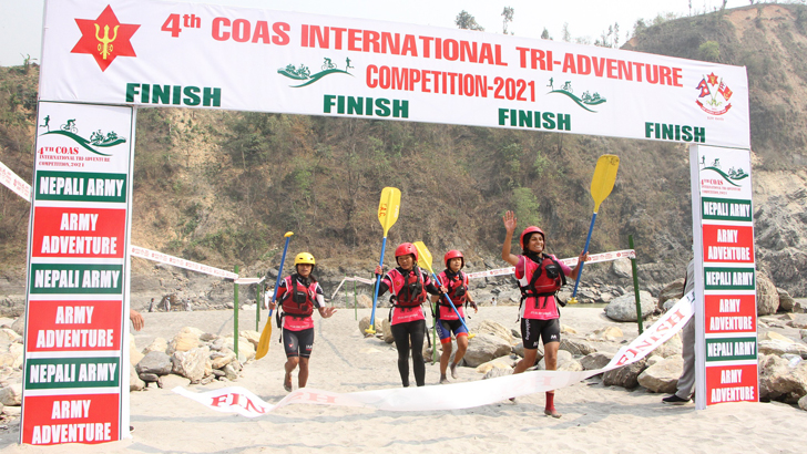 4th COAS Int'l Tri-Adventure Competition-2021 Held