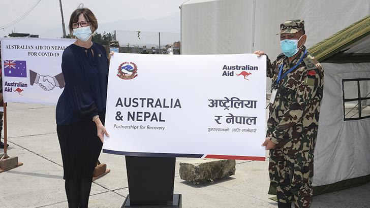 Australia provides essential medical supplies to Nepali Army