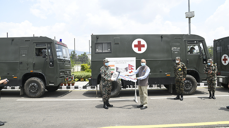 Indian Army Provides Essential Medical Supplies to Nepali Army
